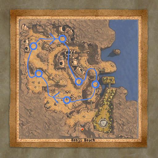 Supreme Stone Golem - Localisation à Gorge of Silence et sens conseillé pour passer d'un spawn à l'autre