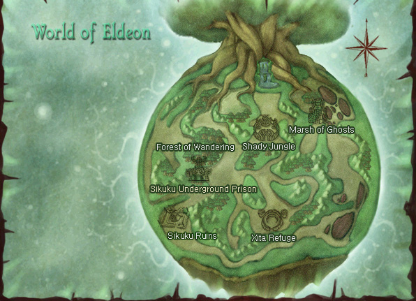Plan général de la planète Eldeon
