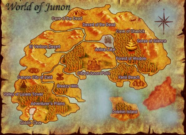 Plan général de la planète Junon