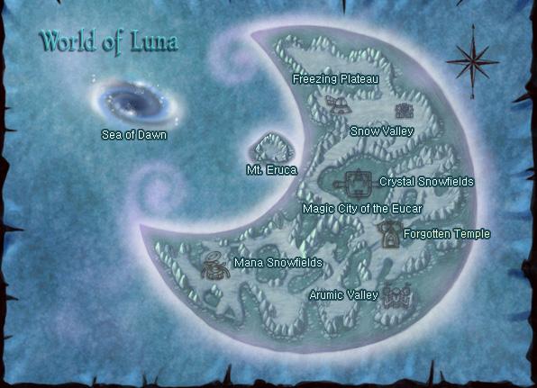 Plan général de la planète Luna