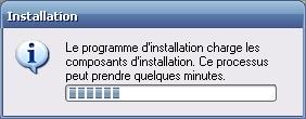 Le programme d'installation charge les composants d'installation. Ce processus peut prendre quelques minutes.