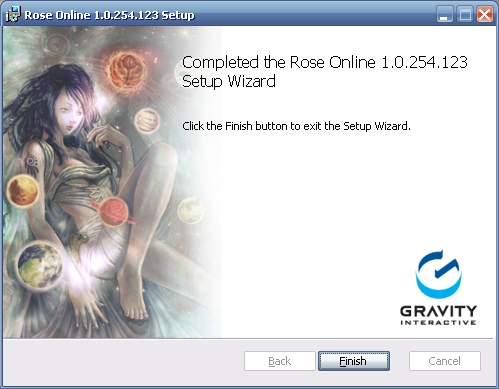 Completed the Rose Online xxxxxxx Setup Wizard